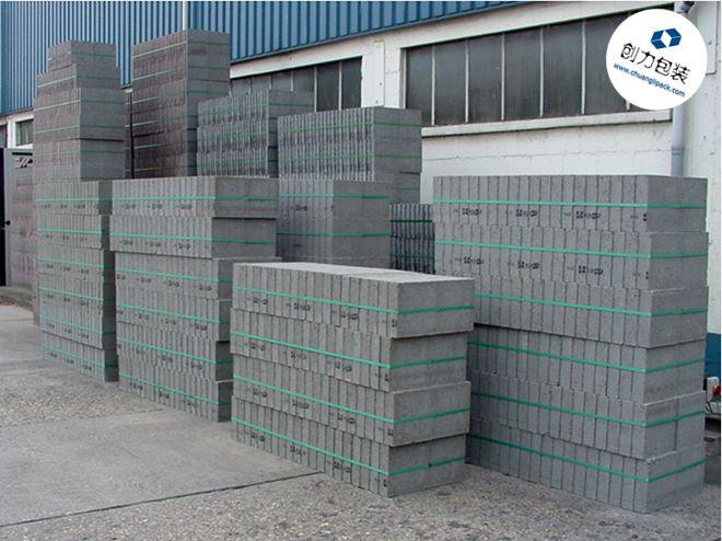 长沙暮云水泥砖厂打包成功案例无托盘+OR-T260电动打包机